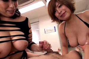 【折原ゆかり痴女】肉感痴女とぽっちゃりハーレム逆3P!